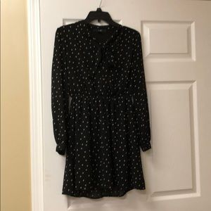 Black and Tan Polka Dotted Vintage Top